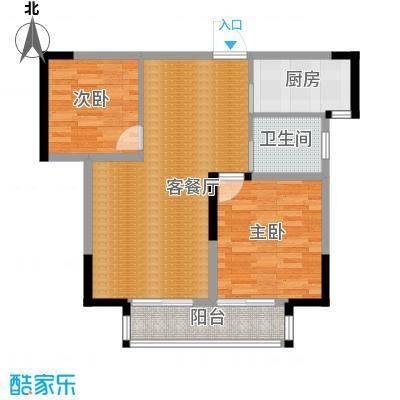 鑫天御景湾89.27㎡E3户型2室2厅1卫