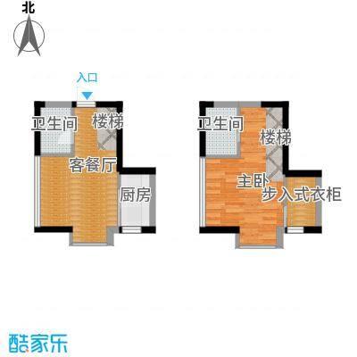 唐延公馆45.81㎡户型1室1厅2卫1厨