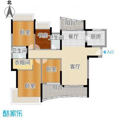 广州雅居乐花园166.36㎡挪威森林200752栋01/05户型1室1厅2卫1厨