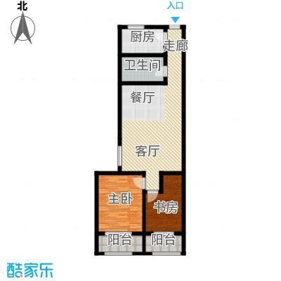 海尚都123.26㎡E户型2室2厅1卫