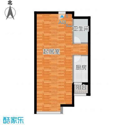 保利金香槟74.27㎡b层公寓户型1室2厅1卫