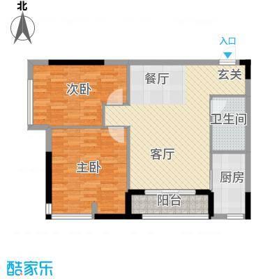 仁恒河滨花园91.00㎡E12/4号楼0户型2室1厅1卫1厨