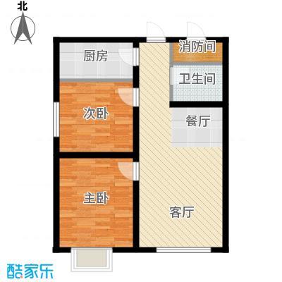 龙昌滨河源88.99㎡2B户型2室1厅1卫1厨