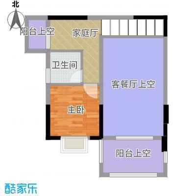 人信太子湾84.00㎡G1-0217层局部平面图户型1室1卫