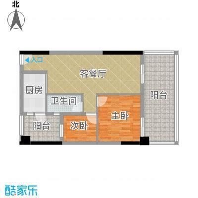 君和源86.15㎡1-22层户型2室1厅1卫1厨