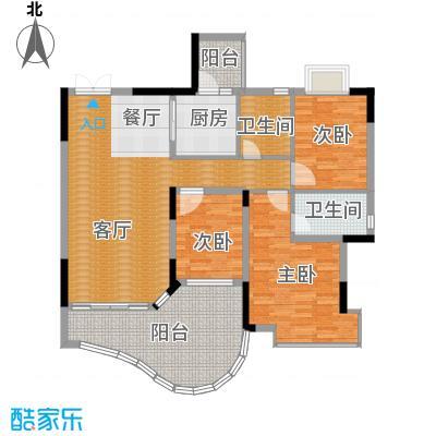恒大城94.00㎡小高层2户型3室1厅2卫1厨
