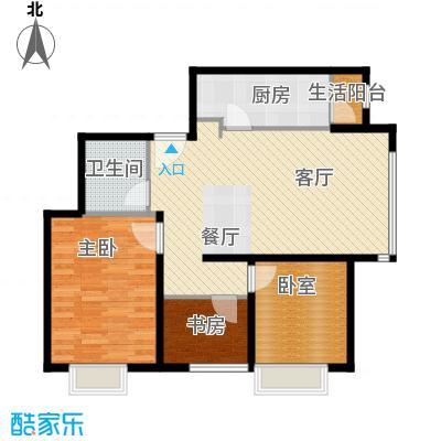 富力童话时光89.00㎡三居户型3室2厅1卫
