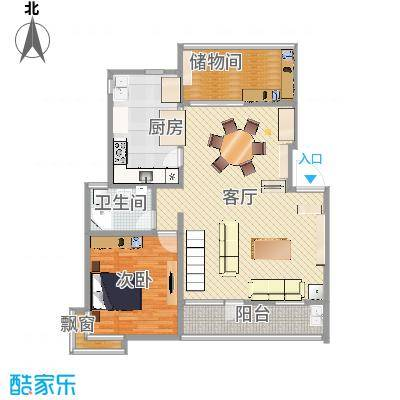 四季新家园 叠加户型图1楼