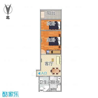 宝山区泗塘七村69号603室户型图