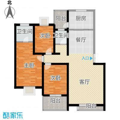 汇城上筑121.16㎡10栋户型3室1厅2卫1厨