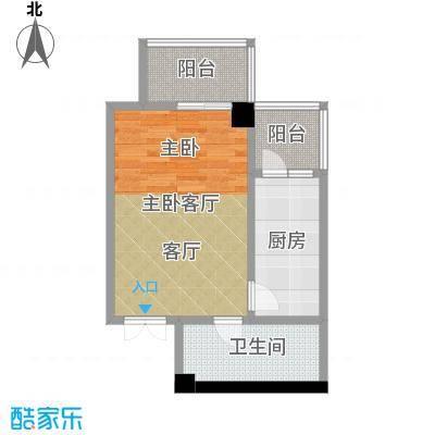 大明宫寓58.80㎡户型1卫1厨