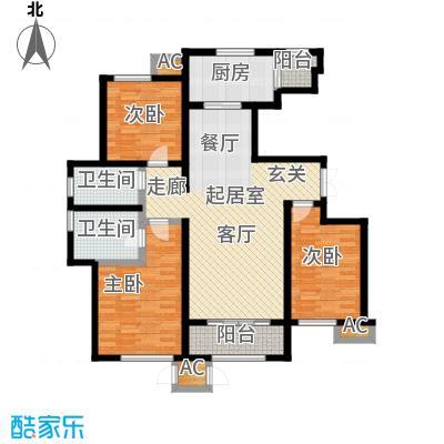 万通生态城新新家园142.70㎡二期B1b户型3室2厅2卫