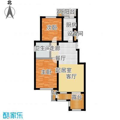 万通生态城新新家园109.00㎡洋房2F 2室2厅1卫户型