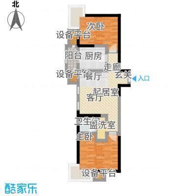 世纪祥和新园79.63㎡B1户型4-17层户型2室2厅1卫