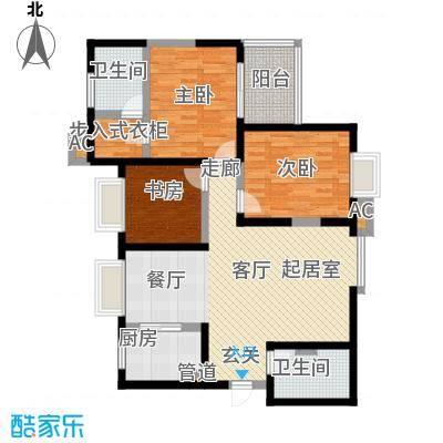 领先尊域127.42㎡领先尊域户型图1号楼B座C户型(2/4张)户型10室