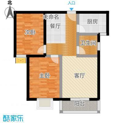 弘和美邻馆86.04㎡二期F私密生活空间与日常活动分割户型2室1卫1厨