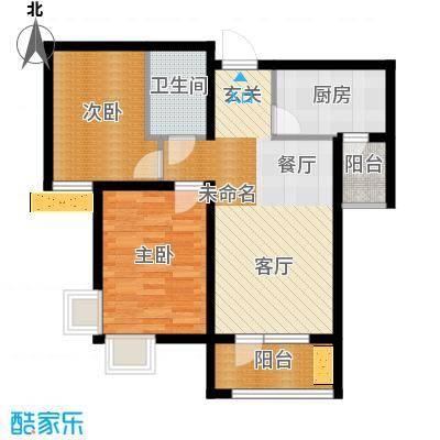 峰尚花园69.13㎡户型10室