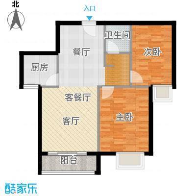 世纪祥和新园91.48㎡C32-23层户型2室2厅1卫