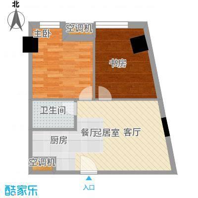 YOHO湾80.00㎡平层D4G-8户型2室1厅1卫