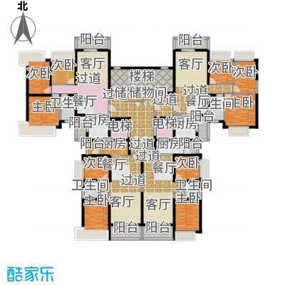 恒大城113.89㎡2期望湖在售9、12、22、24、32号楼楼层平面及户型9室4卫4厨