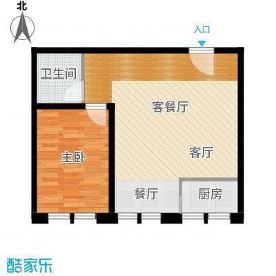 海河大道宽景公寓49.60㎡户型10室