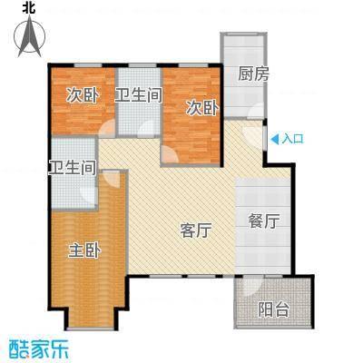 万科锦庐120.00㎡情景花园洋房三层户型3室2厅2卫