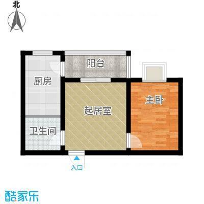 公园新世纪54.79㎡1号楼户型1室1厅1卫