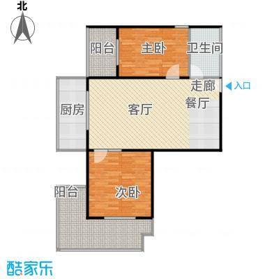 宝枫佳苑111.96㎡C4户型2室1卫1厨