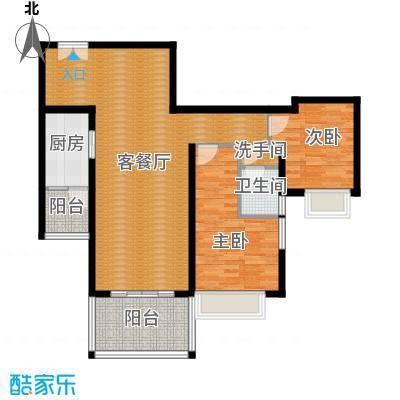 仁和春天国际花园106.36㎡7号楼A3户型2室2厅1卫