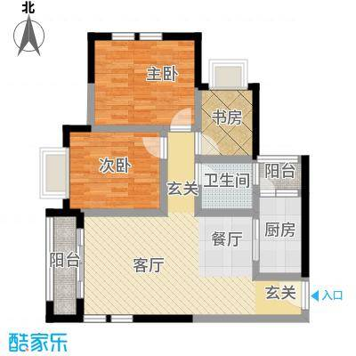 晋愉天意69.52㎡B户型3室1厅1卫1厨