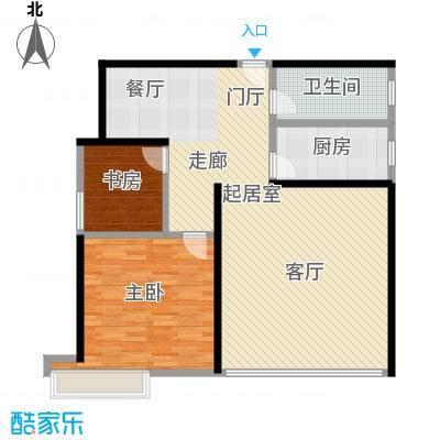 瑞景华庭3号楼西单元B2室户型2室1卫1厨