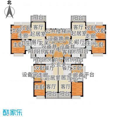 恒大城89.94㎡恒大城户型图4#、7#24层(5/5张)户型10室