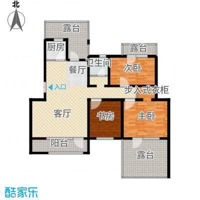 首创玲珑墅98.63㎡A5户型3室1厅1卫1厨