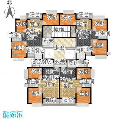 恒大城365.93㎡45、47号楼/32层高层户型9室4厅4卫4厨