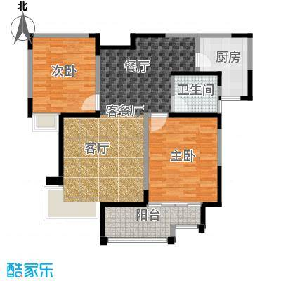 海河大道宽景公寓83.84㎡19号楼中单户型10室