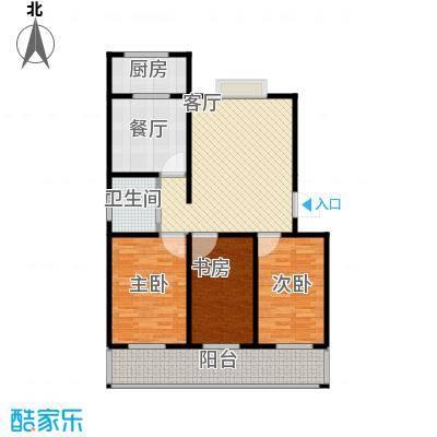 佳宏苑111.07㎡图为2#楼B户型3室2厅1卫1厨