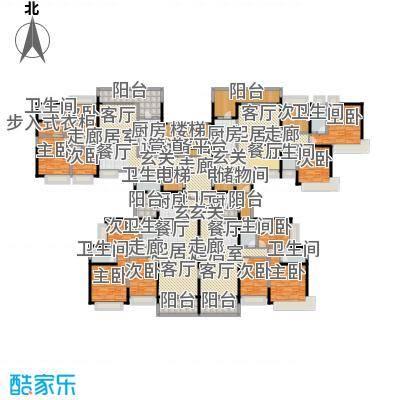 恒大城127.95㎡恒大城户型图18#、29#18层(1/2张)户型10室