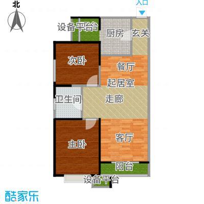 滨海智谛山91.00㎡项目一期10号楼A1户型2室1厅1卫