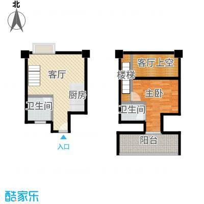 YOHO湾67.59㎡户型10室