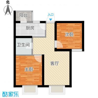 滨海智谛山87.03㎡暖阁户型2室2厅1卫