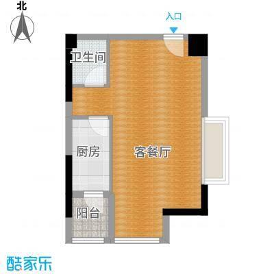 骏逸第一江岸69.76㎡复式--跃层下户型1厅1卫1厨