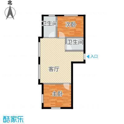 海河大道宽景公寓61.01㎡户型10室