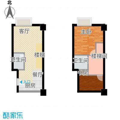 YOHO湾68.32㎡户型10室