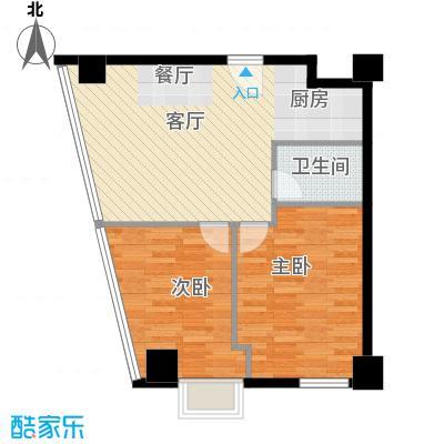 YOHO湾104.00㎡平层D4G-5户型2室1厅1卫