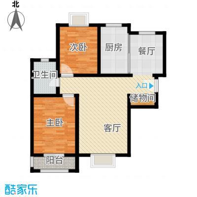 福汇华庭84.02㎡楼层平面图户型10室