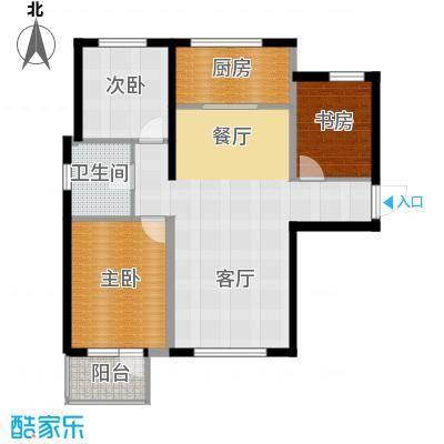 首创红树湾110.00㎡C户型3室2厅1卫