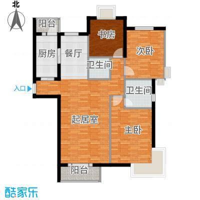香水湾131.84㎡D3户型3室2厅2卫