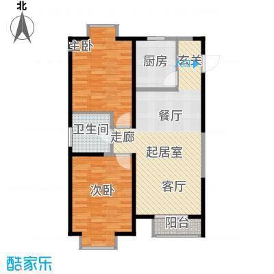 四季风情91.66㎡11号楼C-1户型2室1厅1卫
