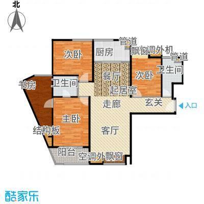 美林湾美林湾户型图四室两厅两卫(5/9张)户型10室