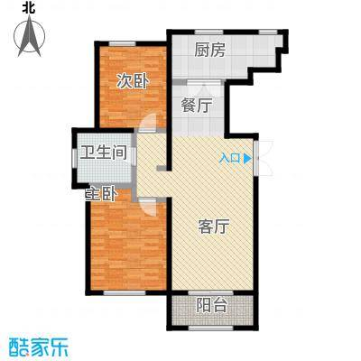 万通生态城新新家园112.25㎡二期A1a户型2室2厅1卫